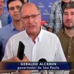 Em entrevista, Alckmin diz que novos pedágios na região não têm sentido (Foto: Reprodução/ TV TEM)