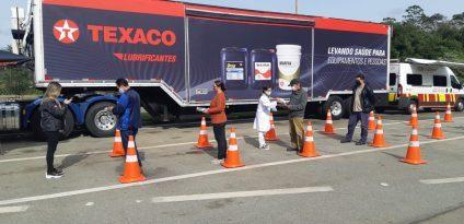 Carreta Texaco atende caminhoneiros em Caçapava
