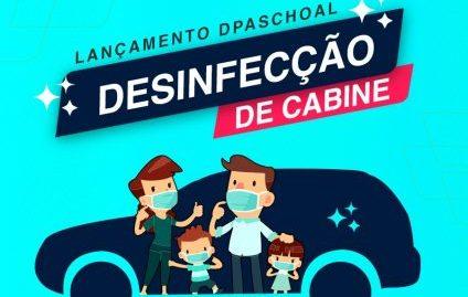 Dpaschoal: desinfecção de cabine para profissionais da saúde